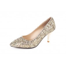 Ladies Pointed-Toe Polyurethane Pumps Shoes
