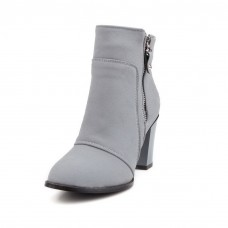 Girls Chunky Heels Outdoor Solid Imitated Suede Boots