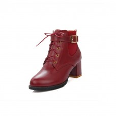 Ladies Ornamented Casual Solid Imitated Leather Boots